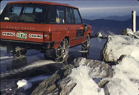 tire chains are needed for snow and ice on a 4 wheel drive suv 4x4. Black Bedroom Furniture Sets. Home Design Ideas